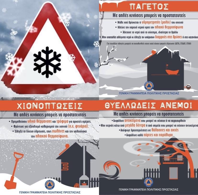 Κακοκαιρία-από-το-Σάββατο-με-χιονοπτώσεις,-μεγάλη-πτώση-της-θερμοκρασίας,-ισχυρό-παγετό,-πολύ-θυελλώδεις-βόρειους-ανέμους,-ισχυρές-βροχές-και-καταιγίδες