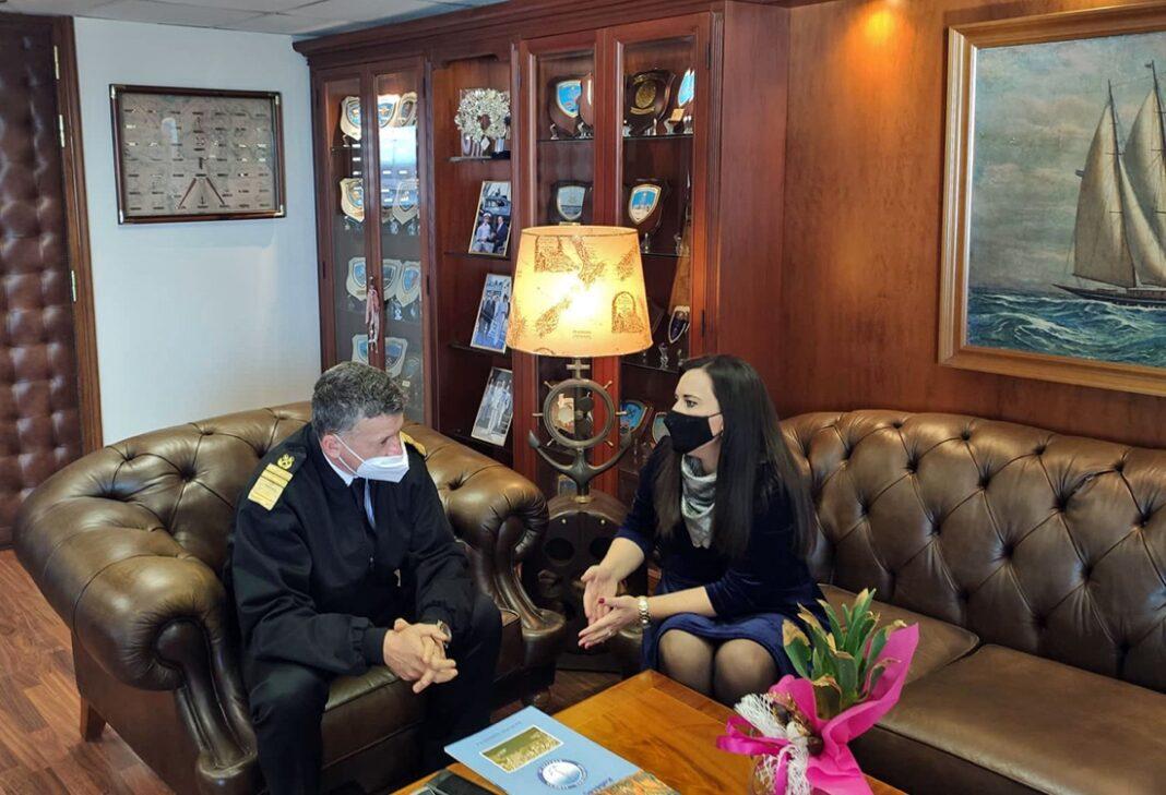 ΟΛΚ-ΑΕ.:-Συνάντηση-της-Διευθύνουσας-Συμβούλου-του-Οργανισμού-με-τον-Αρχηγό-του-Λιμενικού-Σώματος