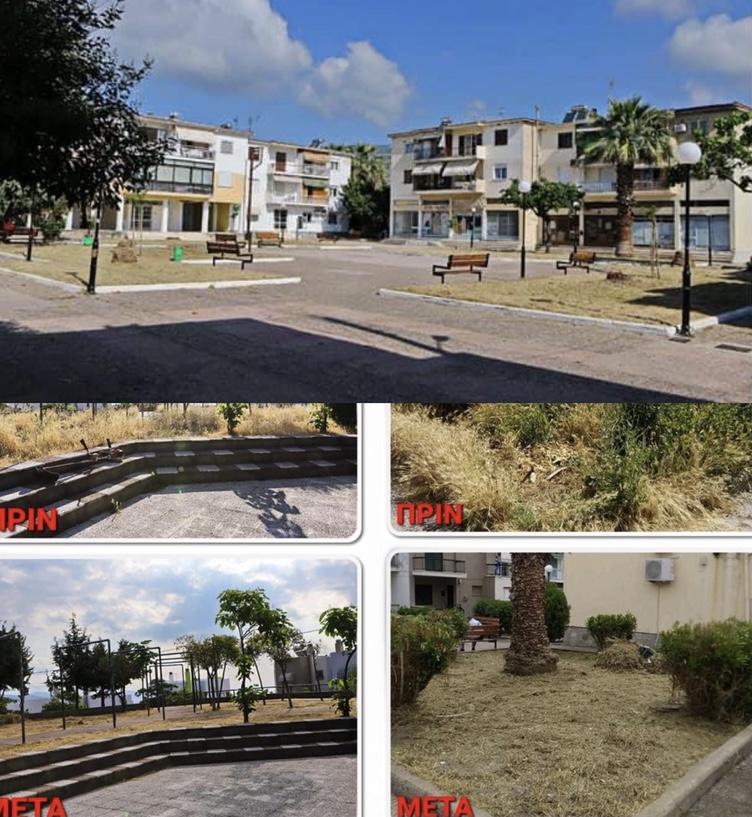 Περιποίηση-πάρκων-και-Κοινοχρήστων-Χώρων-απο-την-υπηρεσία-καθαριότητας-του-Δήμου-Καβαλας