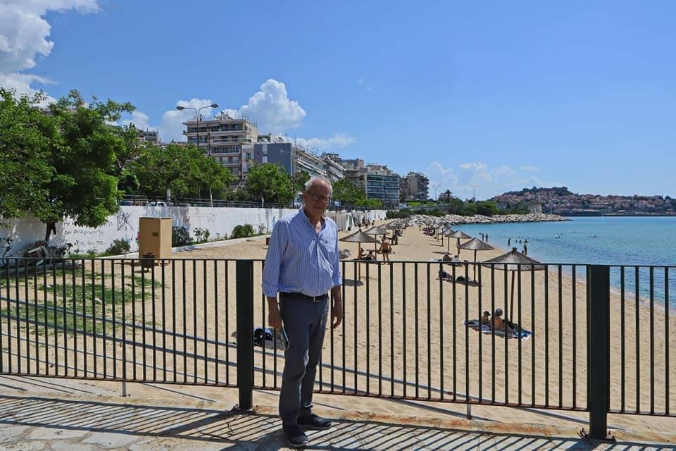 Επίσκεψη-του-Δημάρχου-Καβάλας,-Θόδωρου-Μουριάδη,-στην-παραλία-της-Ραψάνης