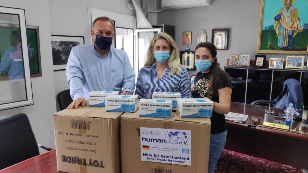 Δωρεά-3000-χειρουργικών-μασκών-από-τη-human-plus-e.v-στο-Δήμο-Θάσου
