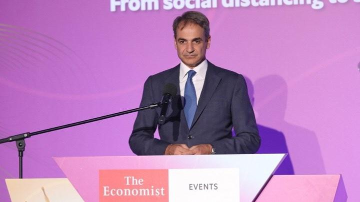 Μητσοτάκης-στο-συνέδριο-του-economist:-Είμαι-εξαιρετικά-αισιόδοξος-για-το-μέλλον-της-οικονομίας