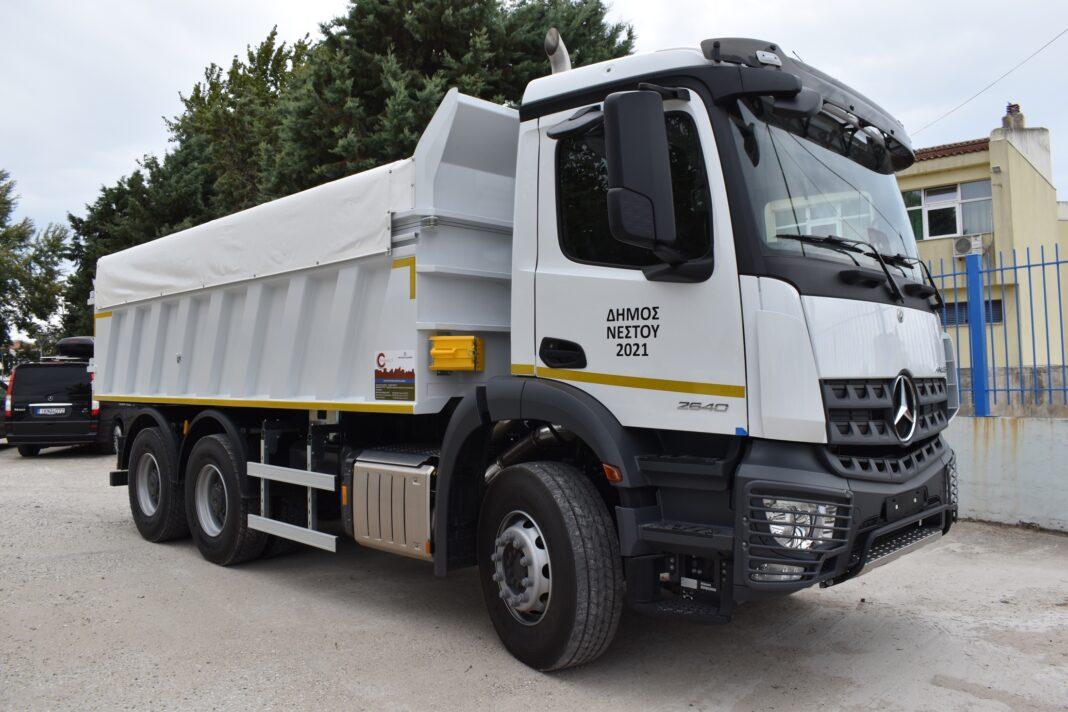 Με-νέο-τριαξονικό-φορτηγό-ενισχύθηκε-η-τεχνική-υπηρεσία-του-Δήμου-Νέστου
